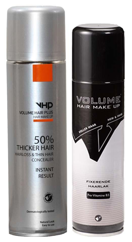 Volume Hair Plus balíček vlasový zesilovač a fixátor Hnědá středně
