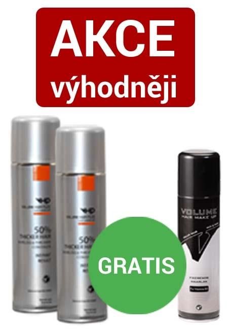 Volume Hair Plus vlasový zesilovač 250 ml ve spreji a fixátor 200 ml AKCE 2+1 zdarma Hnědá tmavě