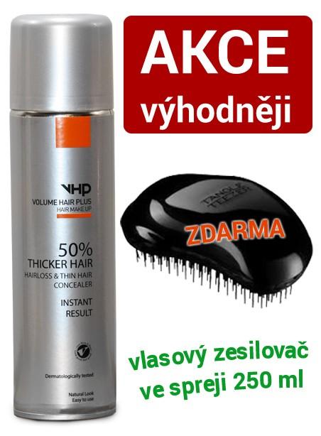 Volume Hair Plus vlasový zesilovač 250 ml + hřeben Zdarma Hnědá středně