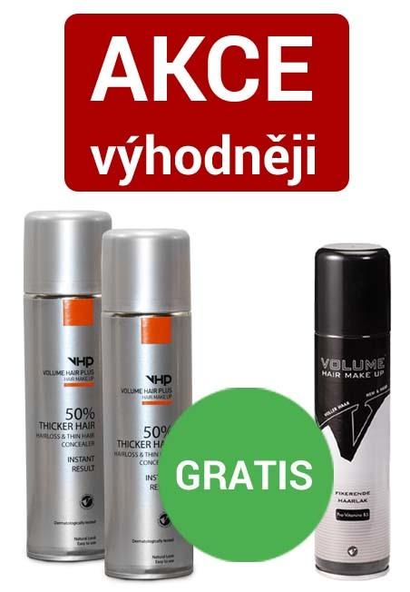 Volume Hair Plus vlasový zesilovač 250 ml ve spreji a fixátor 200 ml AKCE 2+1 zdarma Blond střední