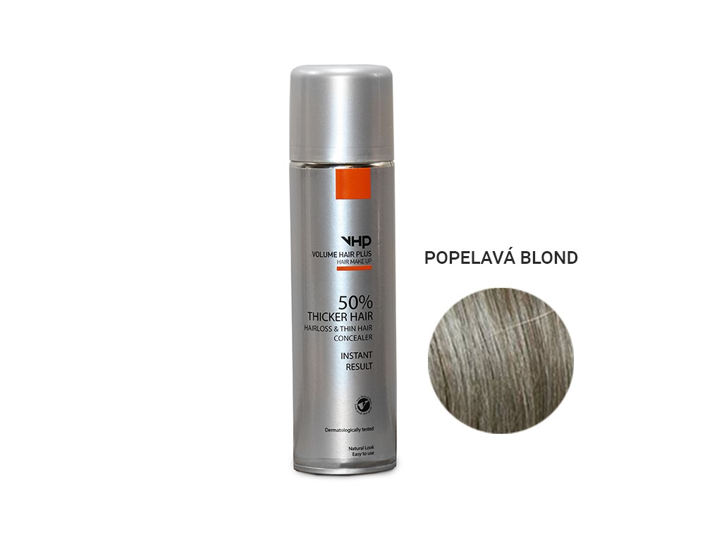 Volume Hair Plus vlasový zesilovač POPELAVÁ BLOND ve spreji pro zahuštění vlasů 250 ml