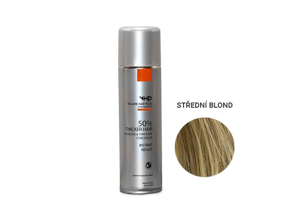 Volume Hair Plus vlasový zesilovač STŘEDNÍ BLOND ve spreji pro zahuštění vlasů 250 ml
