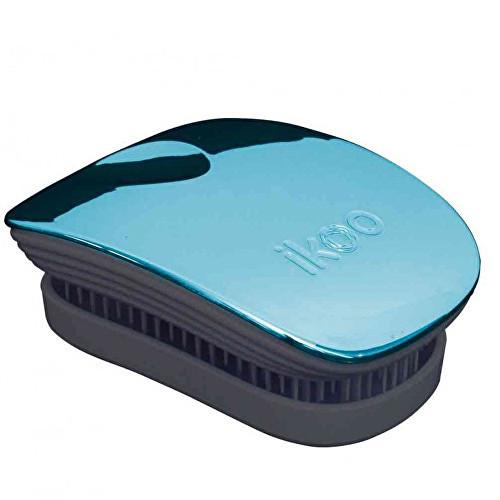 Ikoo Pocket Metallic Black Pacific kartáč na vlasy černo-tyrkysový