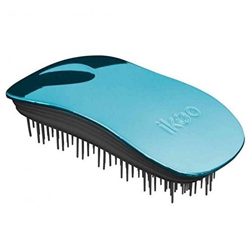 Ikoo Home Metallic Black Pacific kartáč na vlasy černo-tyrkysový