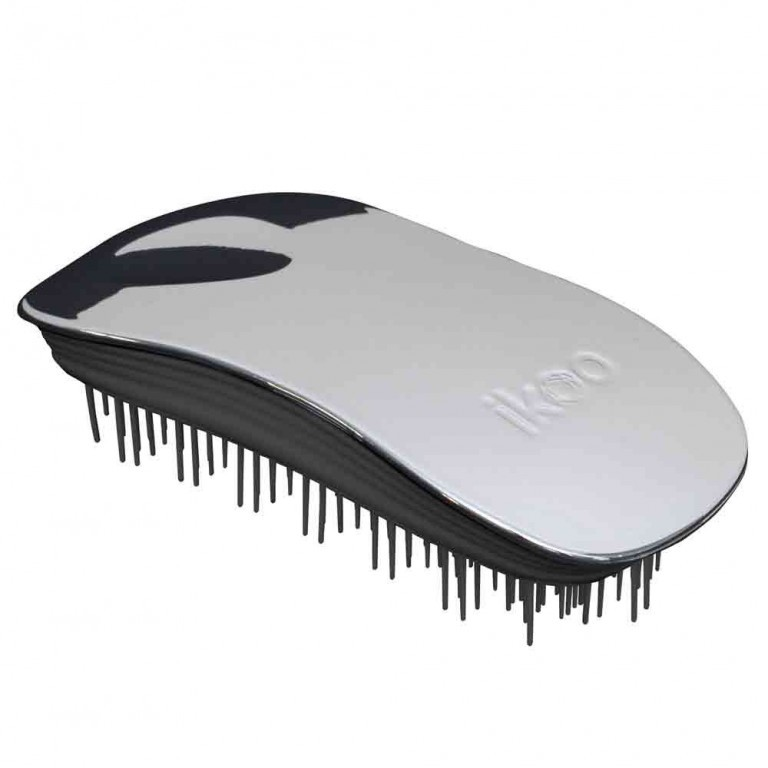 Ikoo Home Metallic Black Oyster kartáč na vlasy černo-stříbrný