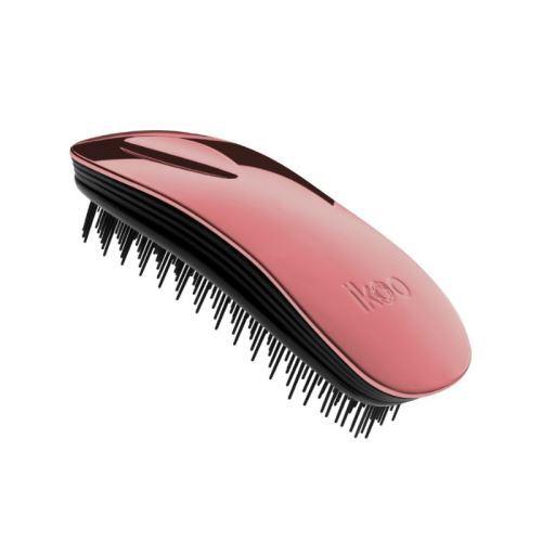 Ikoo Home Metallic Black Rose kartáč na vlasy černá-starorůžová