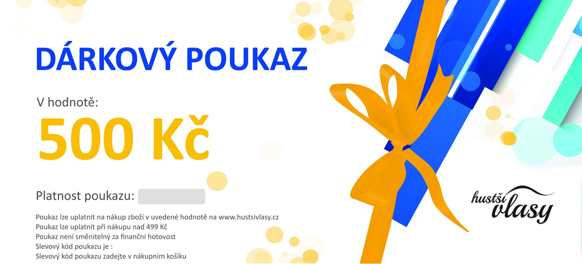 Hustsivlasy.cz Dárkový poukaz 500 Kč