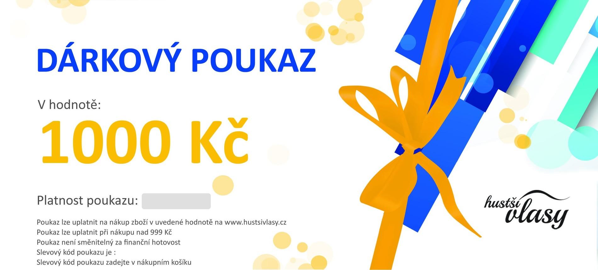 Hustsivlasy.cz Dárkový poukaz 1000 Kč