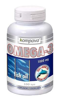 Kompava Omega-3 rybí olej 1000 mg, 30 kps