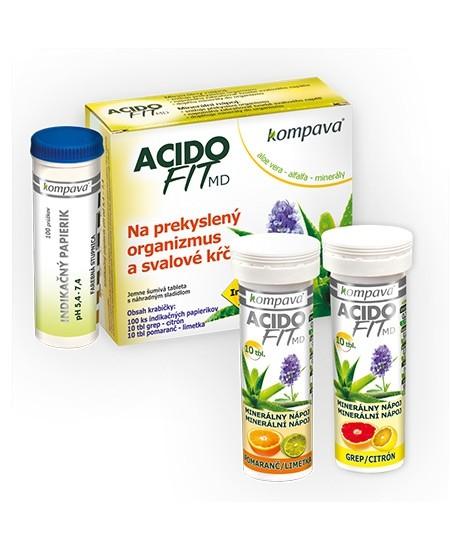 Kompava AcidoFit Mix nápoj na odkyselení organismu
