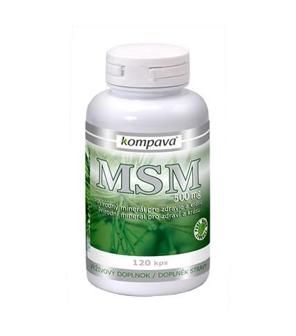 Kompava MSM (metylsulfonylmetan) 500 mg, 120 tbl