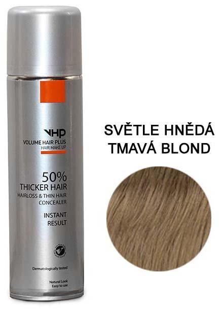 Volume Hair Plus vlasový zesilovač SVĚTLE HNĚDÝ/TMAVÁ BLOND ve spreji pro zahuštění vlasů 200 ml