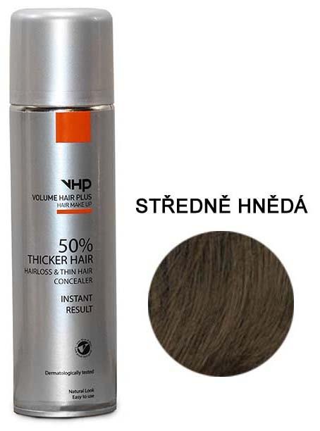 Volume Hair Plus vlasový zesilovač STŘEDNĚ HNĚDÝ ve spreji pro zahuštění vlasů 250 ml