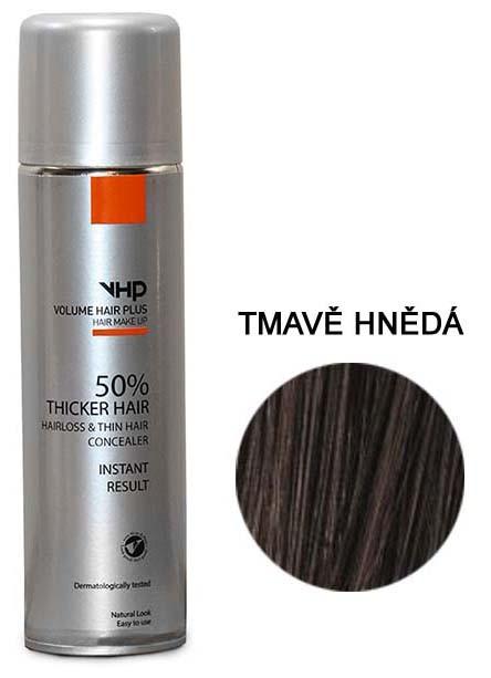 Volume Hair Plus vlasový zesilovač TMAVĚ HNĚDÝ ve spreji pro zahuštění vlasů 250 ml
