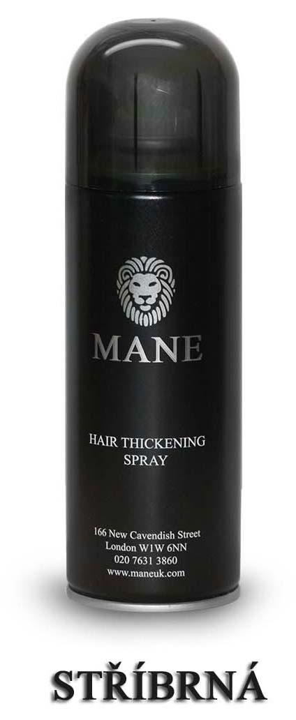 MANE vlasový zesilovač - STŘÍBRNÝ - sprej pro dodání hustoty řídnoucím vlasům 200ml