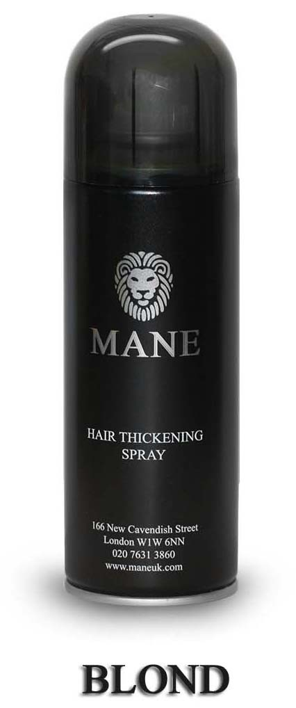 MANE vlasový zesilovač - BLOND - sprej pro dodání hustoty řídnoucím vlasům 200ml