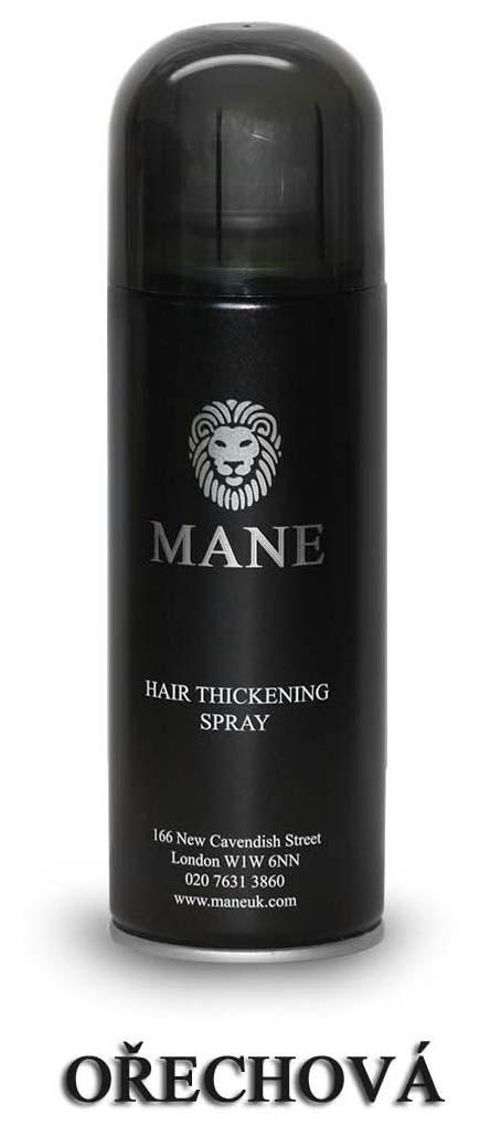MANE vlasový zesilovač - OŘECHOVÝ - sprej pro dodání hustoty řídnoucím vlasům 200ml