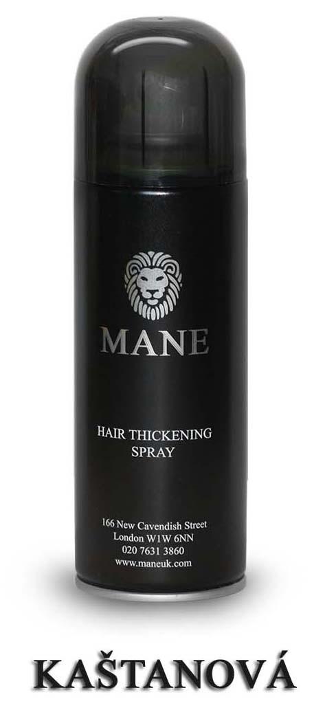 MANE vlasový zesilovač - KAŠTANOVÝ - sprej pro dodání hustoty řídnoucím vlasům 200ml