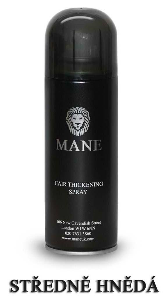 MANE vlasový zesilovač - STŘEDNĚ HNĚDÝ - sprej pro dodání hustoty řídnoucím vlasům 200ml