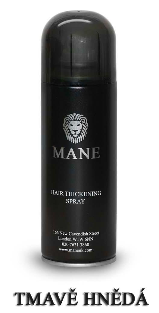 MANE vlasový zesilovač - TMAVĚ HNEDÝ - sprej pro dodání hustoty řídnoucím vlasům 200ml